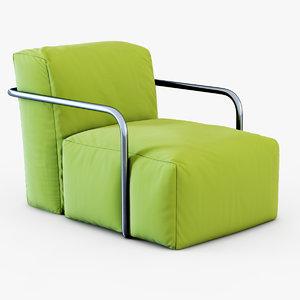 armchair bubbly roberto sartorio 3d max