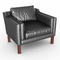 armchair chair borge 3d max