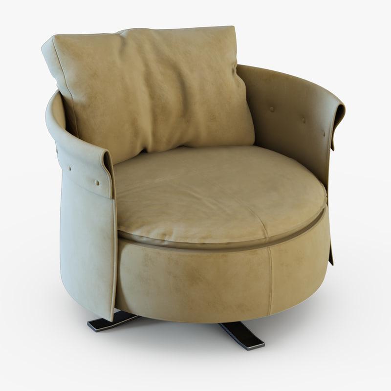 3d model armchair longhi chair