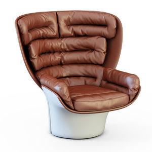 3ds max armchair longhi