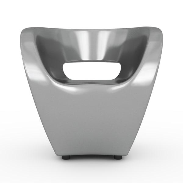 armchair chair little 3d 3ds
