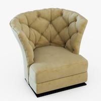 3d armchair longhi model