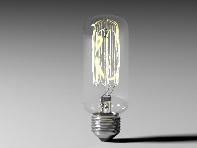 bulb light 17 3d model