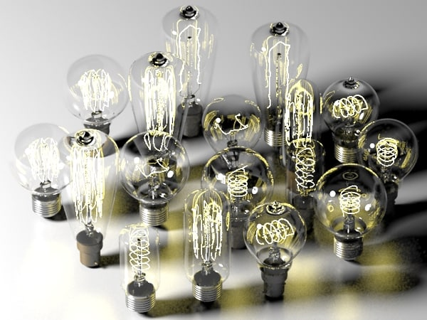 bulbs composition 3d max