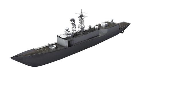 3d model perry frigate