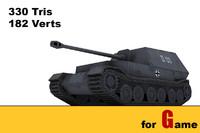 3d model ww ii german tank