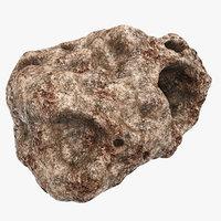 meteorite modeled 3d model