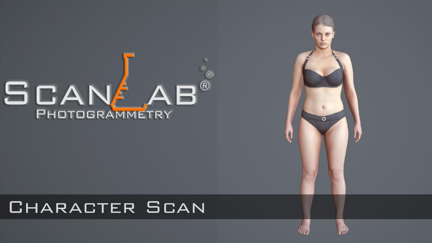 3d model of female body scan -
