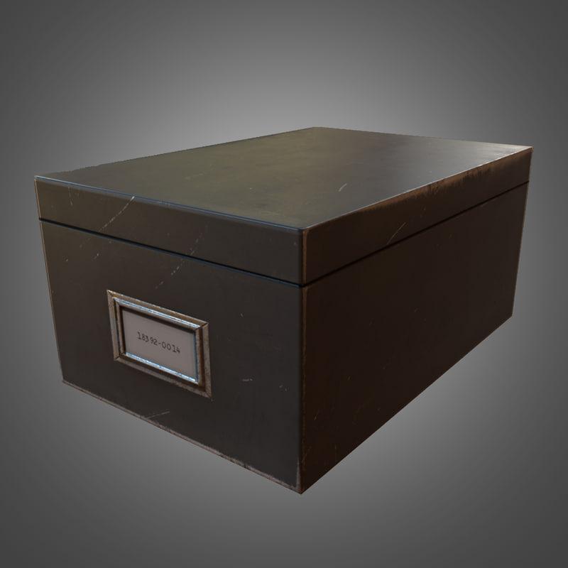3dsmax metal document box ready
