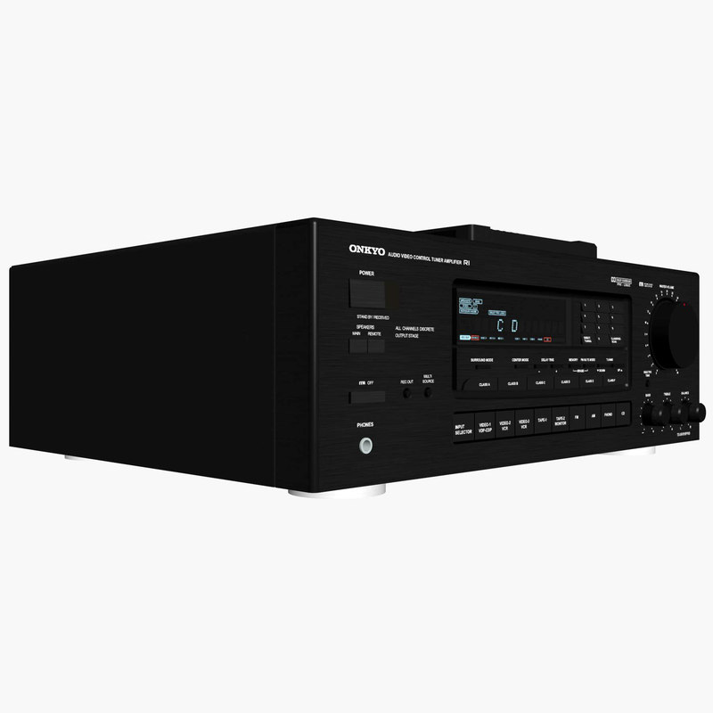 3d model of stereo receiver onkyo