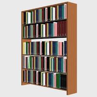 bookshelf books shelf 3d max