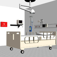 3d model of hospital medical equipment