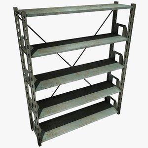 metal shelving unit 3d 3ds