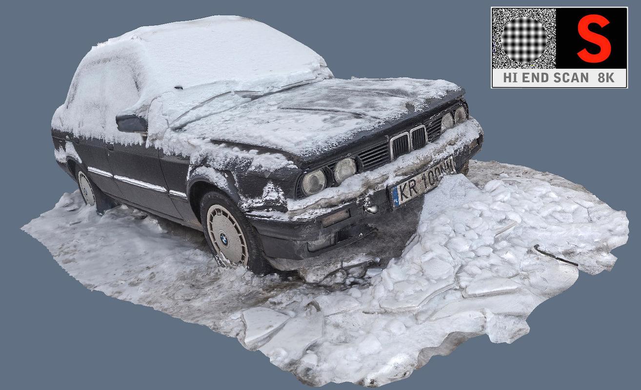 old car snow max