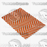3d chalet herringbone flatwoven orange
