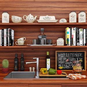 decorative kitchen 3d model