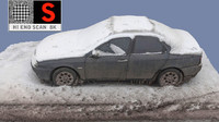 3d old car snow model