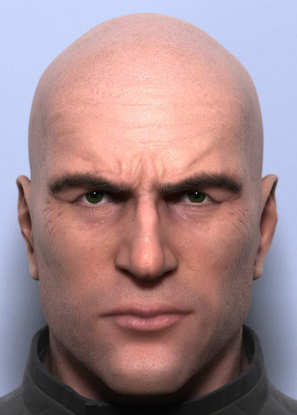 3ds max scene - head bust