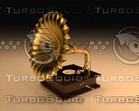 3d golden gramophone