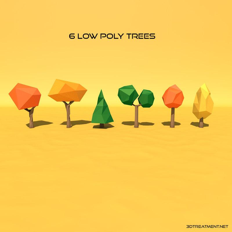 6 trees 3ds