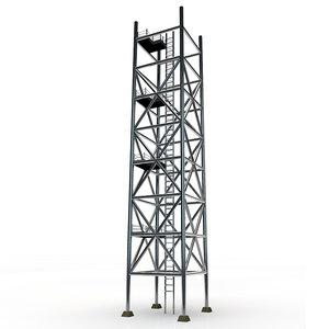 3d model metal scaffolding tower