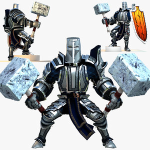 3d rigged knight series