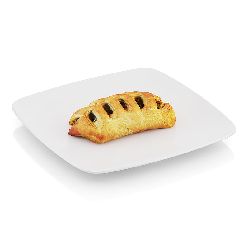 c4d scanned pastry spinach