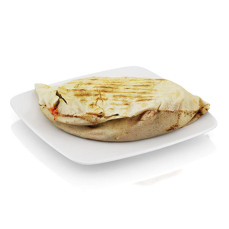 3d scanned beef tortilla model