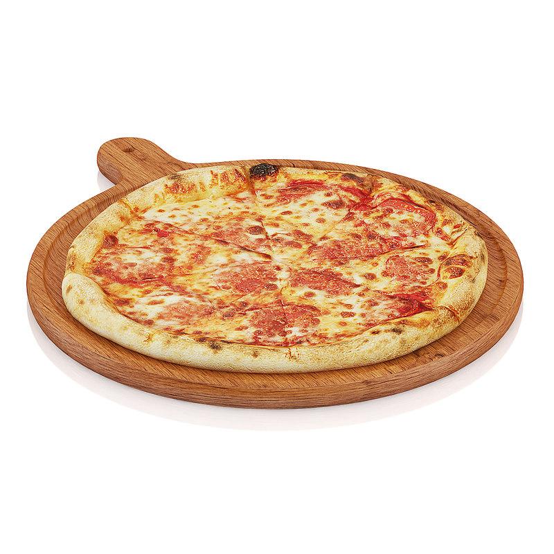 3d model scanned pizza wooden board