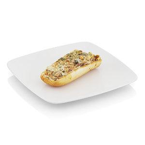3d model scanned baguette baked mushrooms