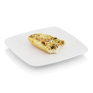 3d scanned baguette baked mushrooms model