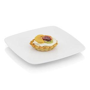 cupcake cream fruits c4d