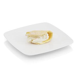 bitten griddle cake cream 3d max