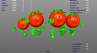 3d x animations tomato running