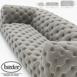 realistic sofa chester moon 3d obj