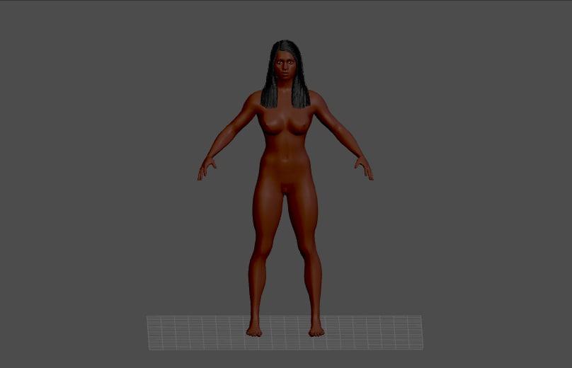 3d woman female lady