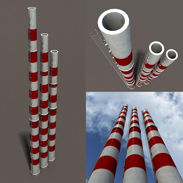 chimney modelled 3d max