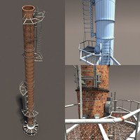 3d chimney modelled model