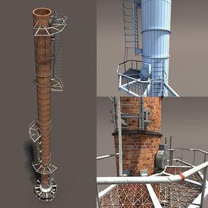3d chimney modelled model