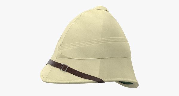 3d model british pith helmet