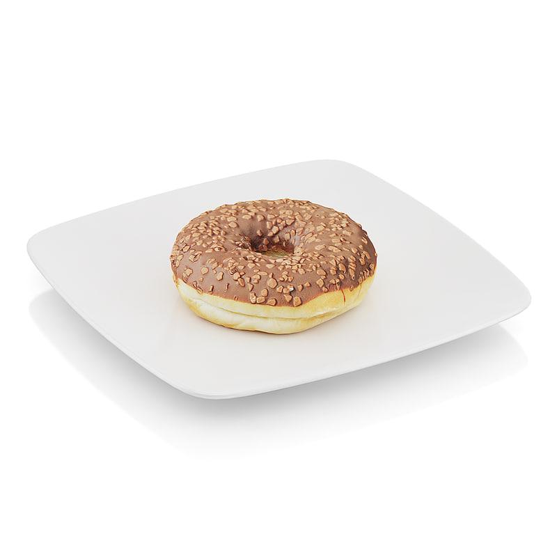 3dsmax donut chocolate
