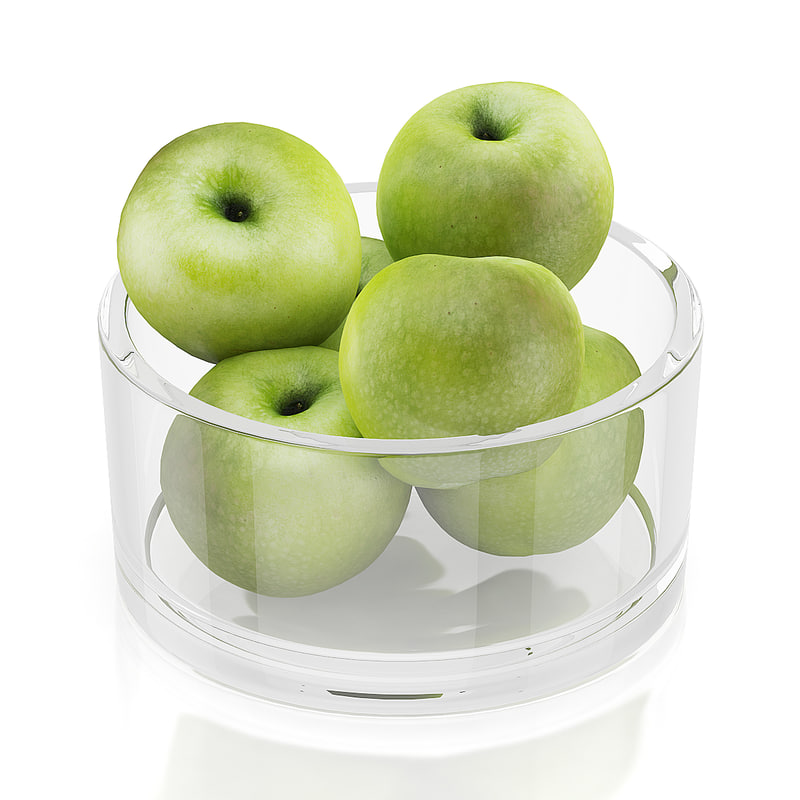 apples glass bowl max