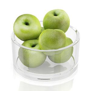 apples glass bowl max