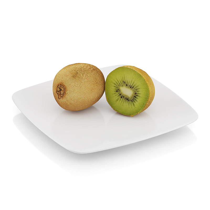 halved kiwi fruit 3d model