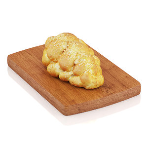 challah bread 3d model