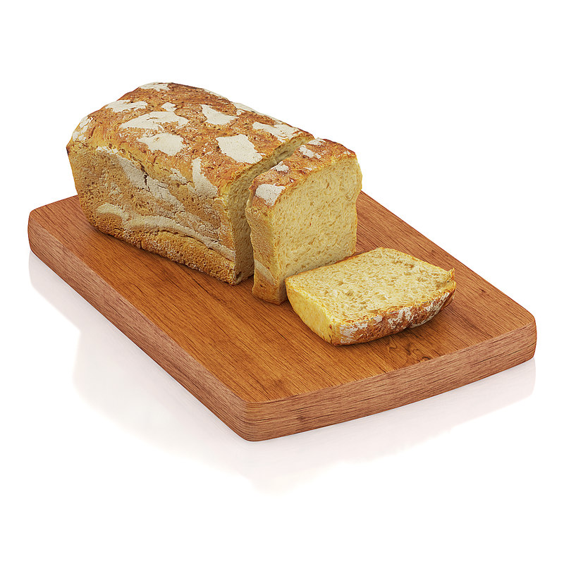 c4d sliced wholemeal bread
