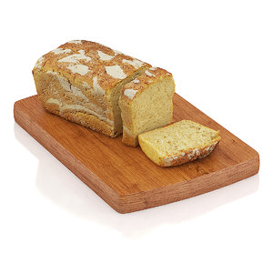 c4d sliced wholemeal bread