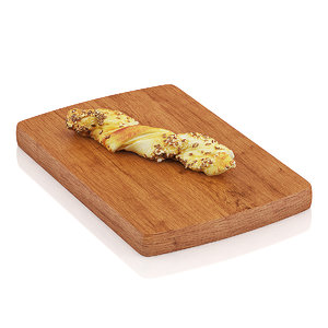 3d max half-eaten long roll grains