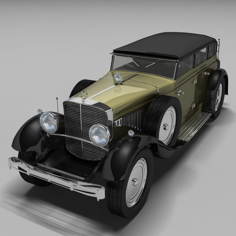 3d model of mercedes benz classic for Old mercedes benz models