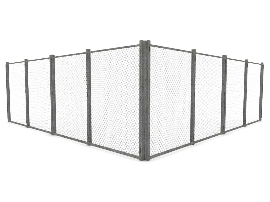 3d model of games fence
